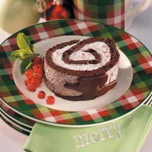 Peppermint Cake Log Recipe