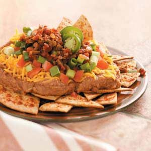 Refried Bean Nachos Recipe