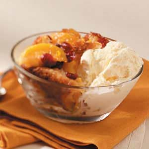 Cranberry Peach Cobbler