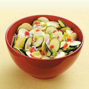 Sweet & Sour Squash Salad Recipe