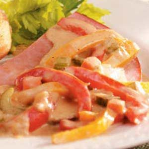 Ham with Creamed Vegetables Recipe
