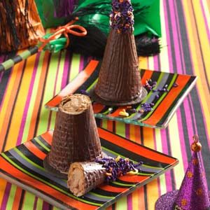 Mousse-Filled Witches' Hats Recipe