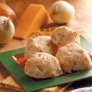 Cheesy Onion Biscuits Recipe