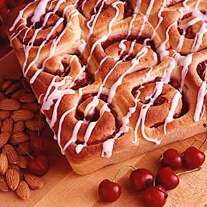 Cherry Nut Breakfast Rolls Recipe
