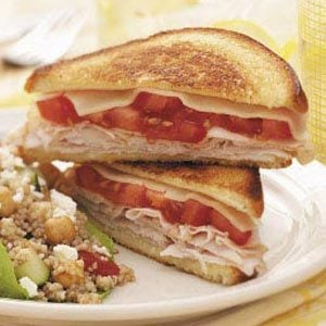 Grilled Cheese with Turkey Recipe