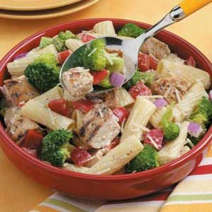 Grilled Chicken Pasta Salad for Two Recipe