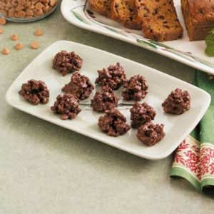 Crunchy Fudge Drops Recipe