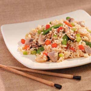Pork Rice Stir-Fry Recipe