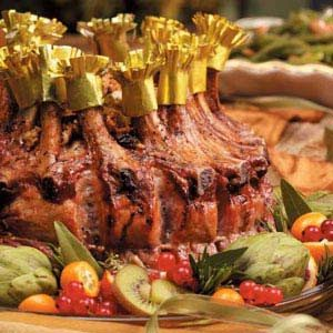 Crown Roast of Pork with Apple Raisin Stuffing Recipe