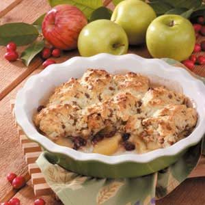 Quick Cran-Apple Cobbler Recipe
