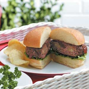 Pineapple-Stuffed Burgers Recipe