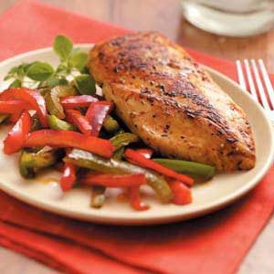 Lemon Chicken and Peppers Recipe