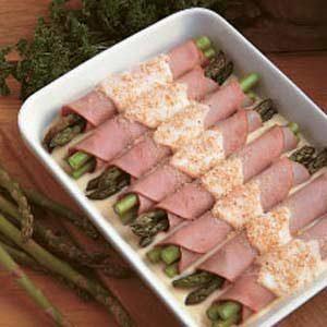 Asparagus Ham Rolls Recipe
