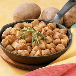 Golden Diced Potatoes Recipe