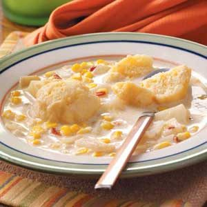 Corn Chowder with Dumplings Recipe
