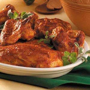 Juicy Barbecued Chicken Recipe