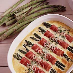Ham and Asparagus Au Gratin