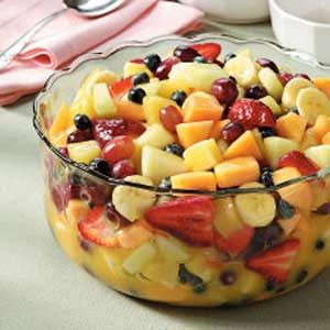 Glazed Fruit Bowl Recipe