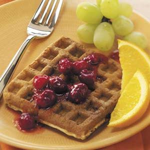 Cran-Orange Waffles