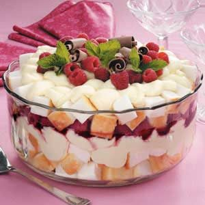 Raspberry Cream Trifle Photo