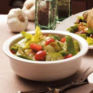 Vinaigrette Veggie Salad Recipe