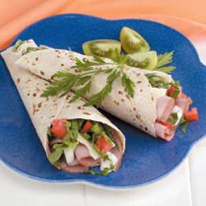 Blue Cheese Ham Wraps Recipe
