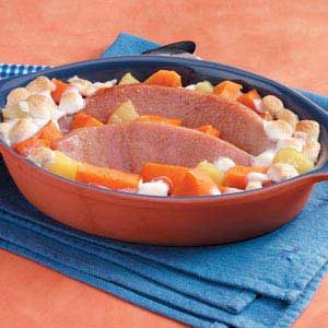 Sweet Potato Ham Casserole Recipe