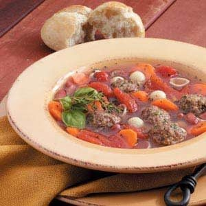 Meatball Soup Recipe
