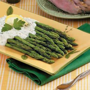Asparagus with Cream Sauce