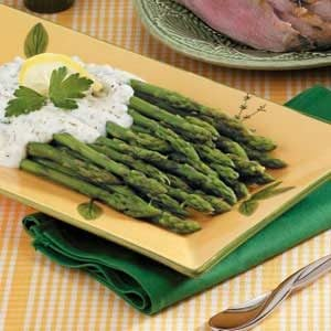 Asparagus with Cream Sauce Recipe