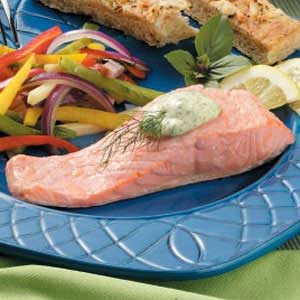 Poached Salmon and Dill Sauce Recipe