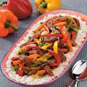 Steak with Three Peppers Recipe