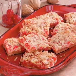 Makeover Cherry Coconut Bars Recipe