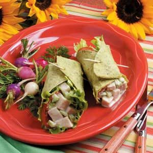 Turkey Salad Wraps Recipe