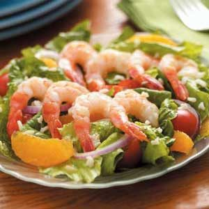 Shrimp Romaine Salad