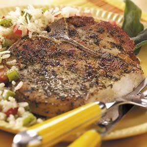 Herb-Rubbed Pork Chops Recipe