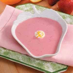 Chilled Strawberry Yogurt Soup Recipe