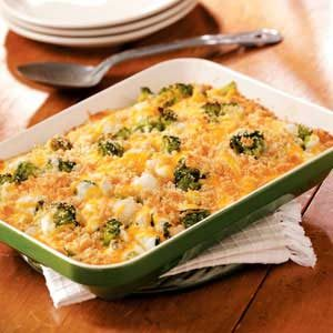 Pearl Onion Broccoli Bake Recipe