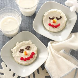 Snowman Sugar Cookies Recipe