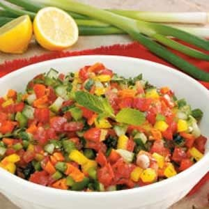 Israeli Pepper Tomato Salad Recipe