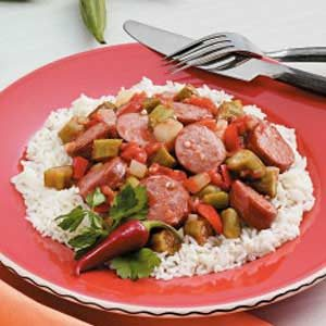 Creole Sausage and Vegetables Recipe
