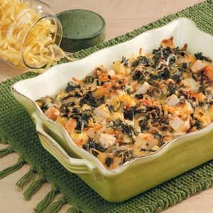 Spinach Turkey Noodle Bake Recipe