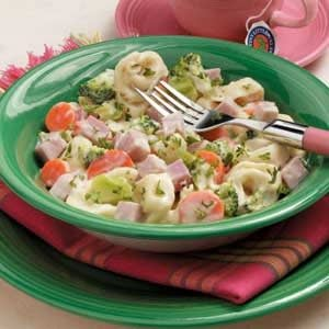 Cheesy Ham Tortellini Recipe