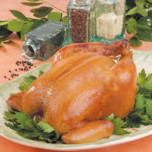 Brined Roasting Chicken Recipe
