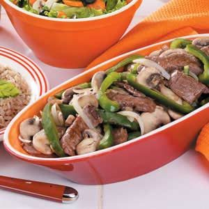 Beef Strip Vegetable Stir-Fry