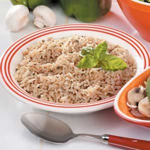 Seasoned Brown Rice Recipe