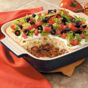 Biscuit-Topped Taco Casserole Recipe