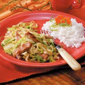 Pork Cabbage Saute Recipe