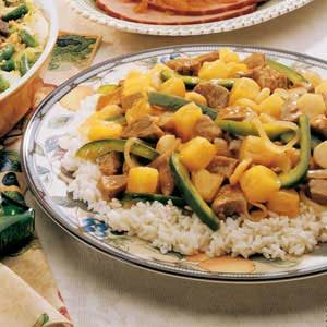 Asian Sweet and Sour Pork with Rice Recipe