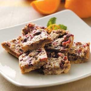Orange Cranberry Bars Recipe